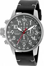 Invicta Men's I-Force Chronograph Multi-function Grey Dial Leather Watch 90062