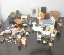 Huge lot of Vintage 1980s Dollhouse Furniture/People Figures etc.