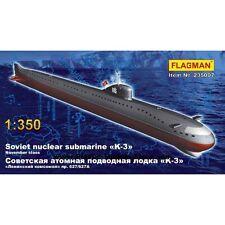 ***SOVIET NUCLEAR SUBMARINE K-3 WWII 1/350 FLAGMAN 235007***