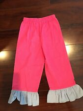 Girl Boutique 3T Pink Blue Corduroy Ruffle Pants Wear with Smock Fall Winter