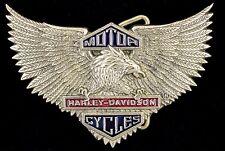 Vtg Harley-Davidson HD Harley Eagle Brass Belt Buckle Baron 1983 MINT NOS New