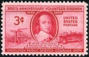 EBS USA 1948 - Volunteer Firemen Issue - Peter Stuyvesant - 971 MNH**