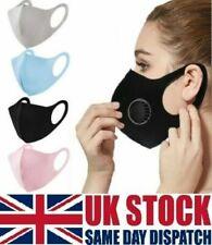 Breathable Mask Washable Black Reusable Face Mouth Protection Unisex UK