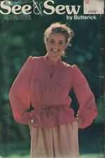 Butterick See & Sew 6163 Misses Loose Fitting Blouse Front Gathered Size 14
