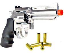 HFC Green Gas Powered Silver Air Soft Revolver