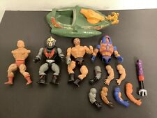 Vintage 1982 He-Man Masters Of The Universe Wind Raider & Figure Parts Lot