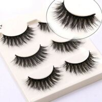 5/3 Pairs Luxurious 3D False Eyelashes Cross Natural Long Eye Lashes Makeup New
