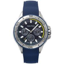 Orologio Uomo NAUTICA AUCKLAND NAPAUC003 Multifunzione Silicone Blu 100mt NEW