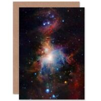 Birthday Space Infrared View Orion Nebula Blank Greeting Card With Envelope