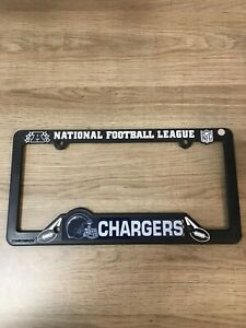 San Diego Charges Black Plastic License Plate Frame Auto Truck Car NWT