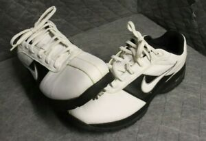 Nike Sport Performance Soft Spiked Golf Shoes 312240-111 Black White Mens Sz 9.5
