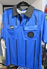 PAIR (2) US SOCCER FEDERATION Referee Shirts SIZE MEDIUM Black & Blue NEW Tags