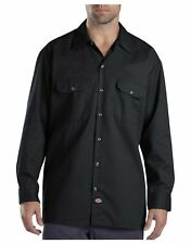 Dickies Long Sleeve Work Shirt Black Mens Size Large New