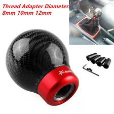 Universal Round Ball Shape Car Gear Shift Knob Shifter Lever Carbon Fiber Look
