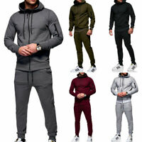 Herren Jogginganzug Trainingsanzug Sweatjacke + Jogginghose Hoodie Zip-Jacke NEU