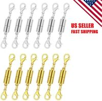 12 PK Gold Silver Color Strong Magnetic Lobster Claw Clasps Snap Hook, US Seller