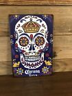 "Corona Extra Beer Sugar Skull Tin Metal sign tacker 8""X12"" Man-Cave Décor"