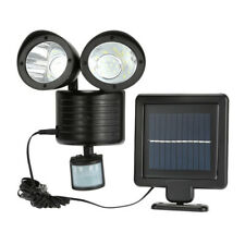 22 LED Dual Solar Powered Motion Sensor Floodlight Outdoor Security Spot Light