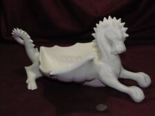 Ceramic Bisque Vintage Dragon Ashtray U-Paint Ready to Paint Fantasy Mystical
