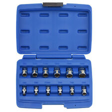 "12pc Octa-Metric Socket Multi-Fit 1/4"" inch Dr. Spline 6 - 12 Point Set"