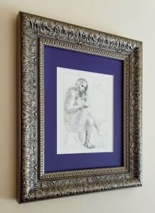 PABLO PICASSO 1954 BEAUTIFUL GRAVURE NOT SIGNED MATTED AT 11X14