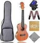 Soprano Ukulele Ranch 21 inch Professional Wooden ukelele Instrument Kit With Fr for sale