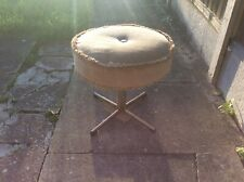 Vintage Swivel Mink Tassel High Footstool