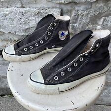 Vtg Converse Chuck Taylor All Star 70s 80s Usa Made Hi Top Black Shoes 7.5