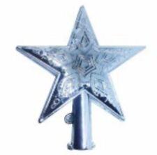 Shiny Decorative Christmas star Tree Topper Medium (Silver)