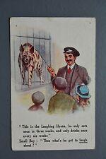 R&L Postcard: E Mack Comic, Laughing Hyena Zoo Zoo Keeper