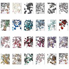 1000 Pcs Acrylic Flat Back Rhinestones Crystal Diamante Gems 2, 3, 4, 5, 6mm