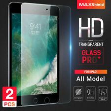 2XTempered Glass Screen Protector Apple New iPad 2 3 4 Air 1 2 Mini Pro 9.7 10.5