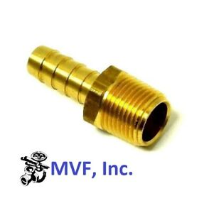 """Hose Barb for 3/8"""" ID Hose X 3/8"""" Male NPT Hex Body Brass Fuel Fitting <201A-6C"""