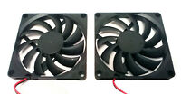 LOT of 2 80x80x10mm 5v 0.25A 2 Pin 80mm Cooling Fan Computer Raspberry Pi - USA
