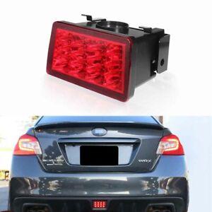 Brilliant Red LED F1 Style Rear Fog Lamp/Brake Tail Lights For Subaru WRX STi XV