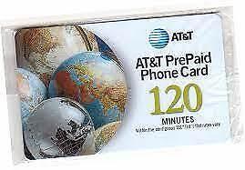 AT&T PrePaid Phone Card 120 Minutes Virtual Card