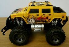 MONSTER Truck Hummer Radio telecomando auto veloce velocità SCALA 1:24 18cm Giallo