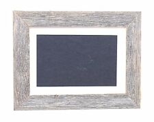 BarnwoodUSA 4x6 Rustic White Mat Picture Frame, Reclaimed Wood Farmhouse Decor