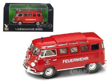 1962 VOLKSWAGEN MICROBUS VAN BUS FIRE 1/43 DIECAST MODEL BY ROAD SIGNATURE 43211