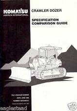 Equipment Brochure - Komatsu - Crawler Dozer Comparison Guide - c1998 (E1983)