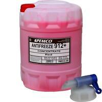 20 L PEMCO Frostschutz ANTIFREEZE 912+ Kühlflüssigkeiten rot + Auslaufhahn