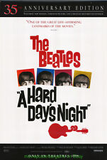 A HARD DAY'S NIGHT MOVIE POSTER 35TH ANN.  BEATLES 1999