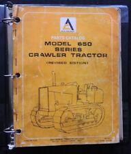 1979 GENUINE ALLIS CHALMERS 650 655 CRAWLER BACKHOE TRACTOR PARTS CATALOG MANUAL