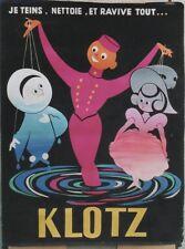 """""""KLOTZ"""" Maquette originale gouache sur papier vers 1950 André ROLAND 119x159cm"""