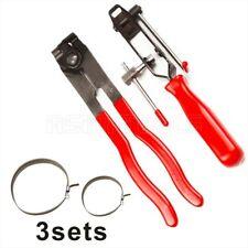 2Pc Boot Clamp Pliers CV Clamp Tool CV Joint Boot Clamp Pliers With 6pc Clamps