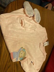 NWT Carters Toddler Girls Footed Fleece Pajamas Sleeper Size 3T