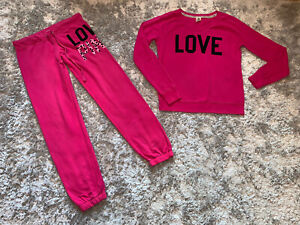 GOOD CONDITION - PINK VICTORIAS SECRET TRACKSUIT - SMALL BOTTOMS MEDIUM TOP