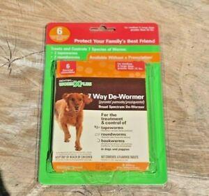 Sentry De-Wormer Worm X Plus 7 Way Dewormer Medium Large Dog 6 Pills EXP. 12/19