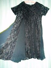 SALE VTG The Avenue dress long wide black lace tent panels NOFUSS plus 18 20 228