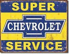 Tin Sign Tsn1355 1355 Super Chevy Service 1355